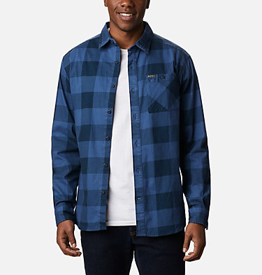 Men's Outdoor Elements™ Printed Flannel Outdoor Elements™ Printed Flannel | 316 | XL, Night Tide Buffalo, front