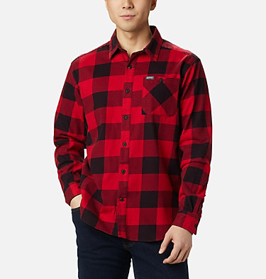 Men's Outdoor Elements™ Printed Flannel Outdoor Elements™ Printed Flannel | 316 | XL, Mountain Red Buffalo, front