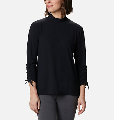 Women's Firwood™ Ribbed Knit Three-Quarter Sleeve Shirt Firwood™ Ribbed Knit 3/4 Sleeve Knit | 604 | L, Black, front