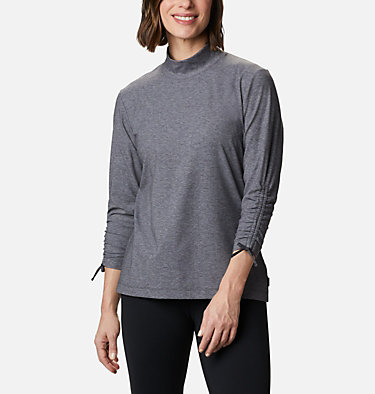 Women's Firwood™ Ribbed Knit Three-Quarter Sleeve Shirt Firwood™ Ribbed Knit 3/4 Sleeve Knit | 604 | L, Shark Heather, front