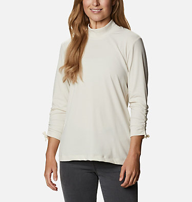 Women's Firwood™ Ribbed Knit Three-Quarter Sleeve Shirt Firwood™ Ribbed Knit 3/4 Sleeve Knit | 604 | L, Chalk, front