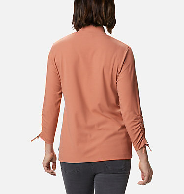 Women's Firwood™ Ribbed Knit Three-Quarter Sleeve Shirt Firwood™ Ribbed Knit 3/4 Sleeve Knit | 604 | L, Nova Pink, back