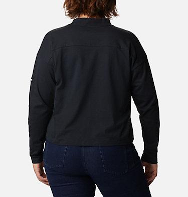 Women's Columbia Lodge™ Mock Neck Shirt - Plus Size Columbia Lodge™ Mock Neck Tee | 397 | 1X, Black, back