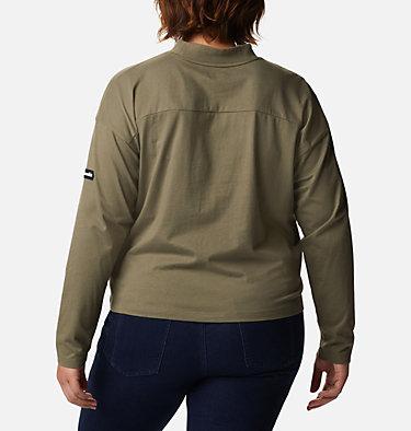 Women's Columbia Lodge™ Mock Neck Shirt - Plus Size Columbia Lodge™ Mock Neck Tee | 397 | 1X, Stone Green, back