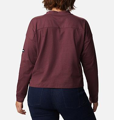 Women's Columbia Lodge™ Mock Neck Shirt - Plus Size Columbia Lodge™ Mock Neck Tee | 397 | 1X, Malbec, back