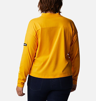 Chandail à col cheminée Columbia Lodge™ pour femme - Grandes tailles Columbia Lodge™ Mock Neck Tee | 397 | 1X, Bright Marigold, back