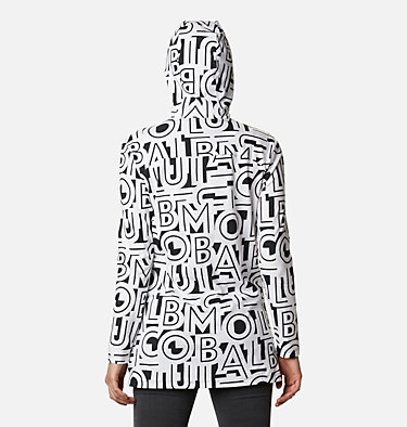 Tunique à capuchon Columbia Lodge™ pour femme Columbia Lodge™ Hooded Tunic | 100 | L, White Typo Print, back
