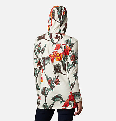 Women's Columbia Lodge™ Hooded Tunic Columbia Lodge™ Hooded Tunic | 100 | L, Chalk Botanical Print, back