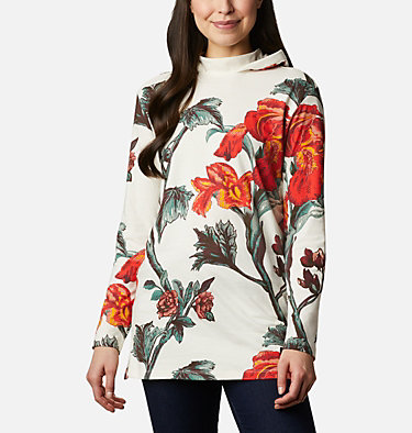 Women's Columbia Lodge™ Hooded Tunic Columbia Lodge™ Hooded Tunic | 100 | L, Chalk Botanical Print, front