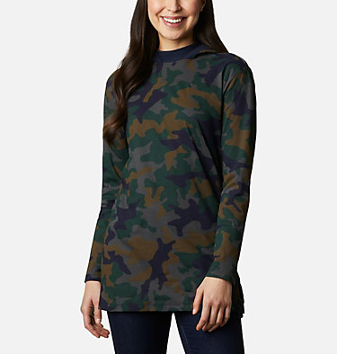 Tunique à capuchon Columbia Lodge™ pour femme Columbia Lodge™ Hooded Tunic | 100 | L, Dark Nocturnal Camo, front