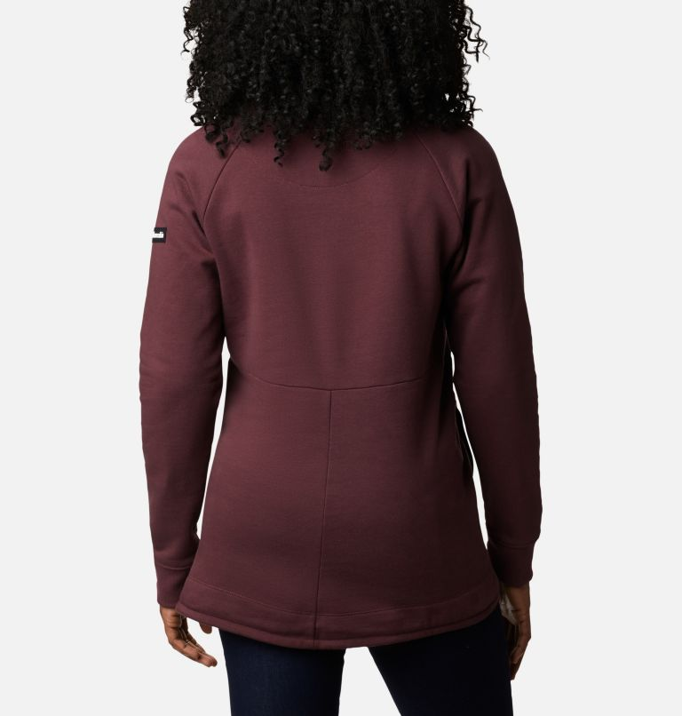 Columbia Lodge™ II Tunic | 671 | M Women's Columbia Lodge™ II Tunic, Malbec, Typo Print, back