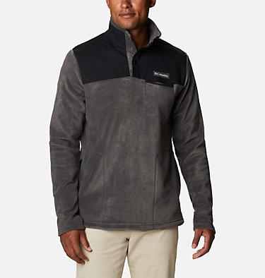 Men's Cottonwood Park™ Half Snap Fleece Pullover Cottonwood Park™ Half Snap | 010 | XL, Shark, Black, front