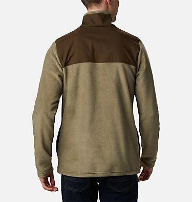Men's Cottonwood Park Half Snap Fleece Pullover Cottonwood Park™ Half Snap | 370 | XXL, Stone Green, Olive Green, back