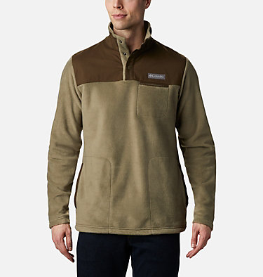 Men's Cottonwood Park Half Snap Fleece Pullover Cottonwood Park™ Half Snap | 370 | XXL, Stone Green, Olive Green, front