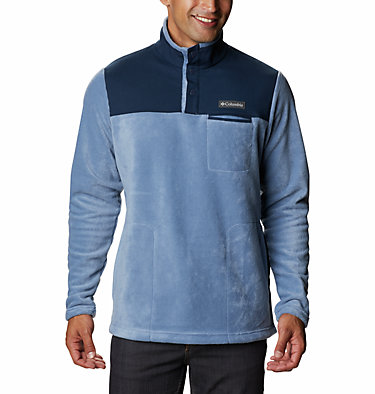 Men's Cottonwood Park Half Snap Fleece Pullover Cottonwood Park™ Half Snap | 370 | XXL, Bluestone, Collegiate Navy, front