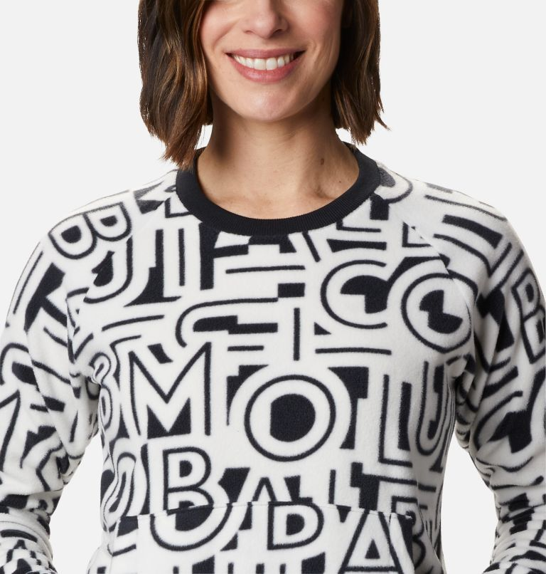 Exploration™ Fleece Crew | 100 | L Haut ras-du-cou en polaire Exploration™ femme, White Typo Print, a2