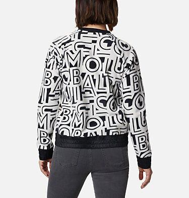 Pile a girocollo Exploration™ da donna Exploration™ Fleece Crew | 319 | L, White Typo Print, back