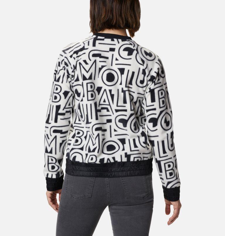 Exploration™ Fleece Crew | 100 | M Women's Exploration™ Fleece Crew, White Typo Print, back