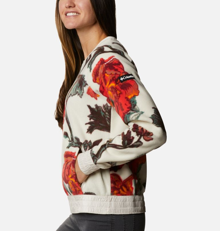 Exploration™ Fleece Crew | 191 | L Haut ras-du-cou en polaire Exploration™ femme, Chalk Botanical Print, a1