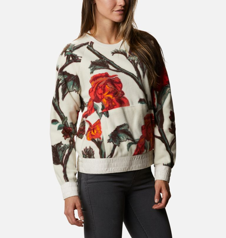 Exploration™ Fleece Crew | 191 | M Women's Exploration™ Fleece Crew, Chalk Botanical Print, a3