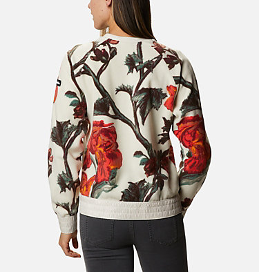 Haut ras-du-cou en polaire Exploration™ femme Exploration™ Fleece Crew | 319 | L, Chalk Botanical Print, back