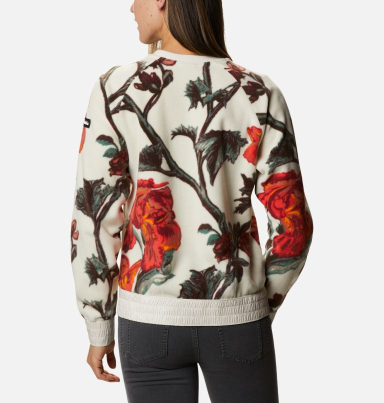 Exploration™ Fleece Crew | 191 | M Women's Exploration™ Fleece Crew, Chalk Botanical Print, back