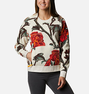 Women's Exploration™ Fleece Crew Exploration™ Fleece Crew | 472 | L, Chalk Botanical Print, front
