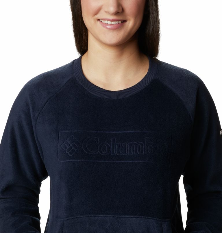 Exploration™ Fleece Crew | 473 | XL Women's Exploration™ Fleece Crew, Dark Nocturnal Multi Typo Print, a2