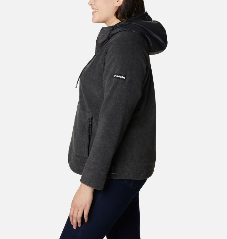 Women's Exploration™ Hooded Full Zip Fleece Jacket - Plus Size Women's Exploration™ Hooded Full Zip Fleece Jacket - Plus Size, a1