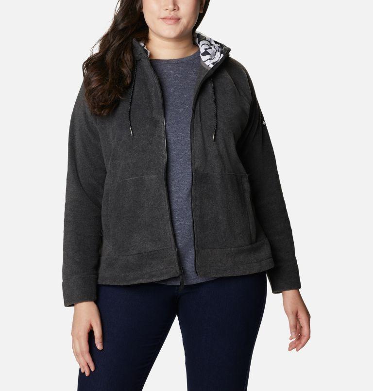 Women's Exploration™ Hooded Full Zip Fleece Jacket - Plus Size Women's Exploration™ Hooded Full Zip Fleece Jacket - Plus Size, front