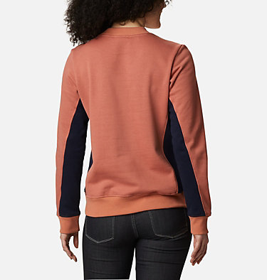 Women's Columbia Lodge™ Pullover Sweatshirt Columbia Lodge™ Pullover | 010 | L, Nova Pink, Dark Nocturnal, back