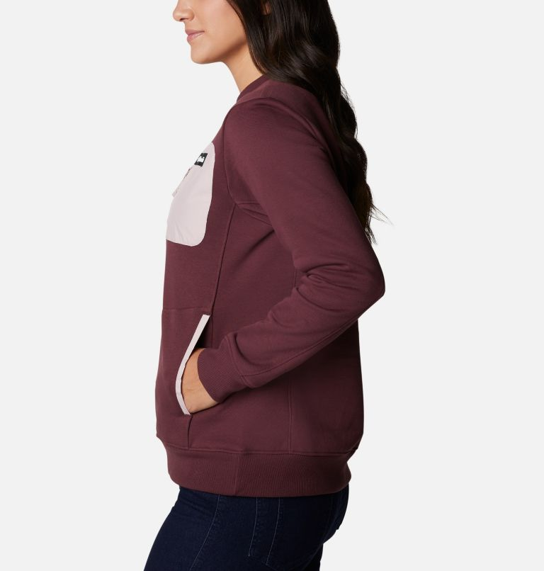 Columbia Lodge™ Pullover | 671 | M Women's Columbia Lodge™ Pullover Sweatshirt, Malbec, Stone Green, a1