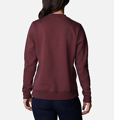 Women's Columbia Lodge™ Pullover Sweatshirt Columbia Lodge™ Pullover | 010 | L, Malbec, Stone Green, back