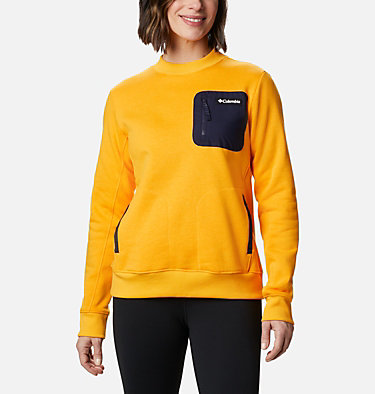 Chandail Columbia Lodge™ pour femme Columbia Lodge™ Pullover | 010 | L, Bright Marigold, Dark Nocturnal, front