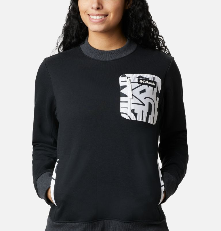Columbia Lodge™ Pullover | 010 | XL Women's Columbia Lodge Pullover Sweatshirt, Black, White Typo, a2