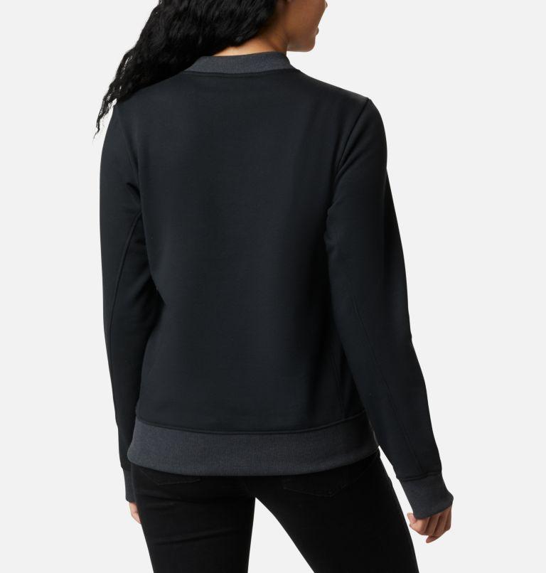Columbia Lodge™ Pullover | 010 | S Women's Columbia Lodge Pullover Sweatshirt, Black, White Typo, back