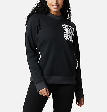 Columbia Lodge Sweatshirt für Frauen Columbia Lodge™ Pullover | 010 | L, Black, White Typo, front
