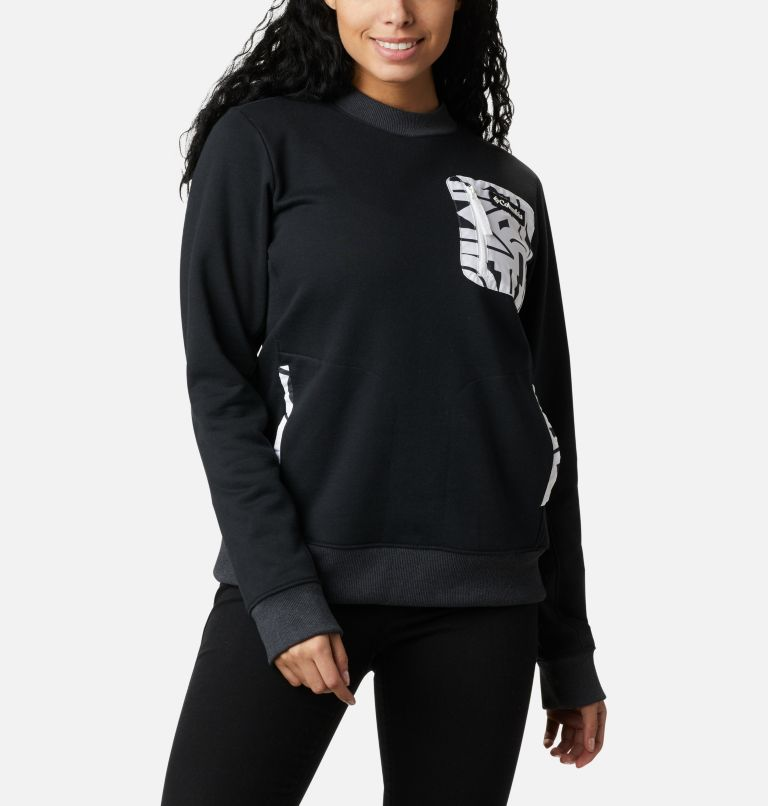 Columbia Lodge™ Pullover | 010 | XL Women's Columbia Lodge Pullover Sweatshirt, Black, White Typo, front