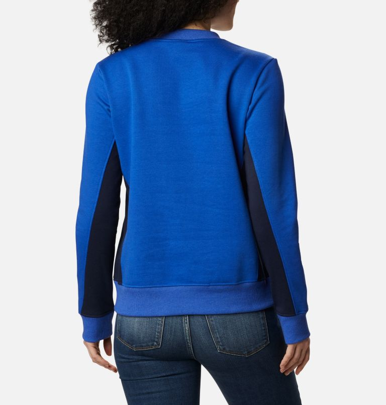 Columbia Lodge™ Pullover | 410 | M Women's Columbia Lodge Pullover Sweatshirt, Lapis Blue, Dark Nocturnal, back