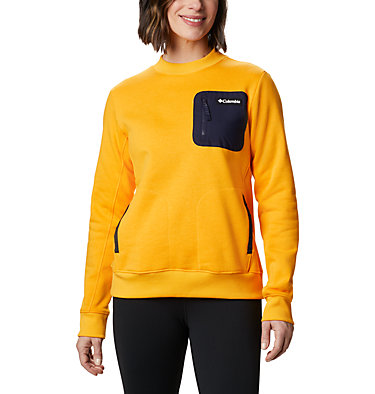 Sweat-Shirt Columbia Lodge Femme Columbia Lodge™ Pullover | 010 | L, Bright Marigold, Dark Nocturnal, front