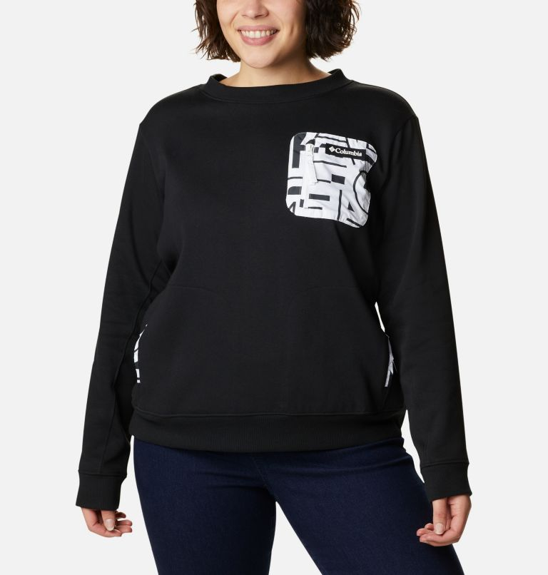 Women's Columbia Lodge™ Pullover Sweatshirt - Plus Size Women's Columbia Lodge™ Pullover Sweatshirt - Plus Size, front