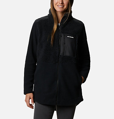 Chandail à fermeture éclair en laine polaire Sherpa Columbia Lodge™ pour femme Columbia Lodge™ Sherpa FZ Fleece | 010 | L, Black, front
