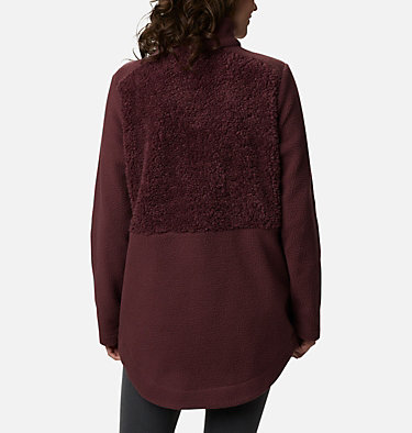Women's Columbia Lodge™ Sherpa Full Zip Fleece Columbia Lodge™ Sherpa FZ Fleece | 010 | L, Malbec, back