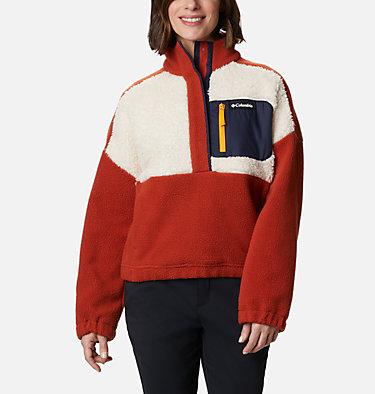 Women's Columbia Lodge™ Sherpa Pullover Columbia Lodge™ Sherpa Pullover | 472 | L, Dark Sienna, Chalk, front