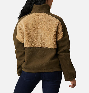 Pullover de polar sherpa Columbia Lodge™ para mujer Columbia Lodge™ Sherpa Pullover | 472 | L, Olive Green, Beach, back