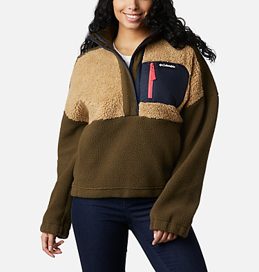 Pull en polaire Columbia Lodge™ femme Columbia Lodge™ Sherpa Pullover | 472 | L, Olive Green, Beach, front