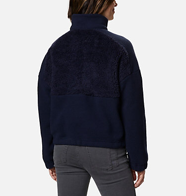 Pull en polaire Columbia Lodge™ femme Columbia Lodge™ Sherpa Pullover | 472 | L, Dark Nocturnal, Multi Typo Print, back