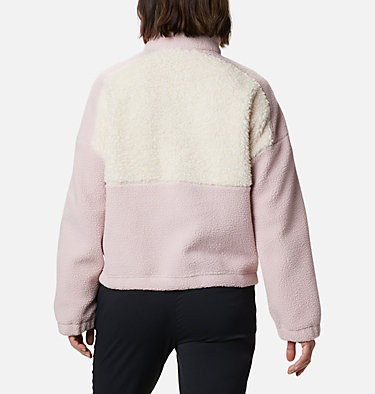 Pull en polaire Columbia Lodge™ femme Columbia Lodge™ Sherpa Pullover | 472 | L, Mineral Pink, Chalk, back