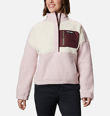 Pull en polaire Columbia Lodge™ femme Columbia Lodge™ Sherpa Pullover | 472 | L, Mineral Pink, Chalk, front