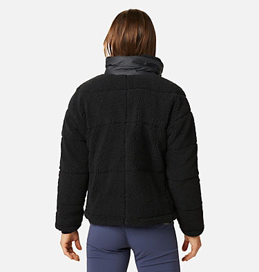 Women's Columbia Lodge Baffled Sherpa Fleece Jacket Columbia Lodge™ Baffled Sherpa Fleece | 010 | L, Black, back